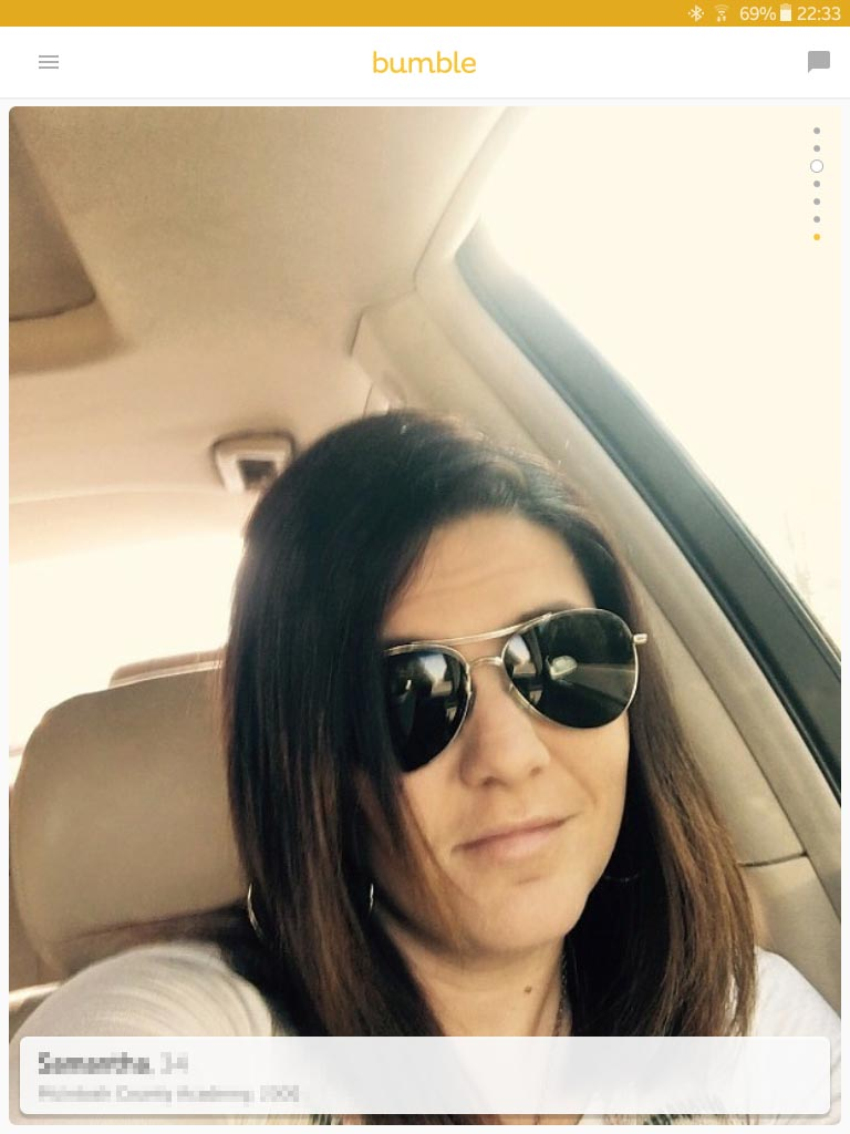 Sunglasses dating profile